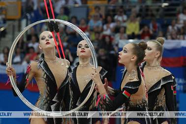 Two golds for Belarus in group rhythmic gymnastics events at Minsk 2019